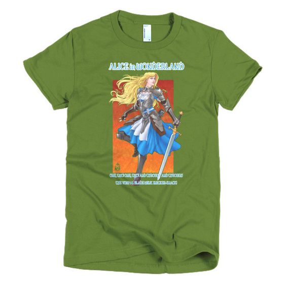 Alice and Her Vorpal Blade Slim Fit Woman's T-Shirt