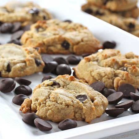 Brown Butter Peanut Butter Chocolate Chip Cookies from @Kim Kelly
