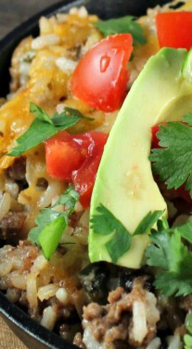 Cheesy rice, Cheesy rice casserole and Rice on Pinterest