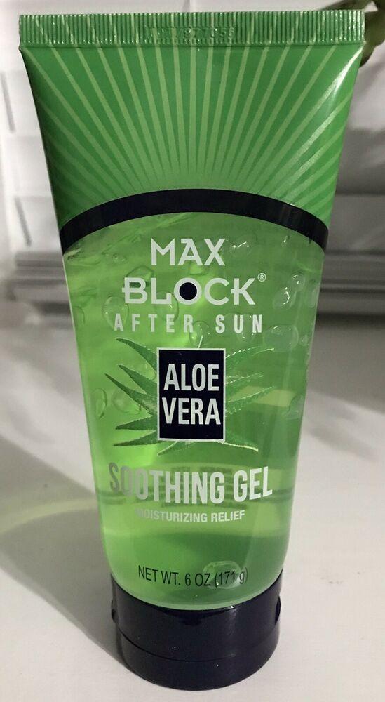 After Sun Soothing Aloe Vera Gel Max Block 6 Oz Skin Care New Moisturizing Ebay Aloe Vera Aloe After Sun