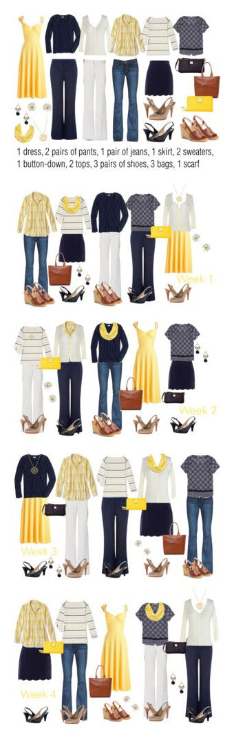 Yellow & Navy: Extended Work Capsule featuring Bettie Page, Monsoon, Paige Denim, J.Crew, MINKPINK, Naturalizer, Kate Spade, Nine West, Dooney & Bourke and Armani Jeans