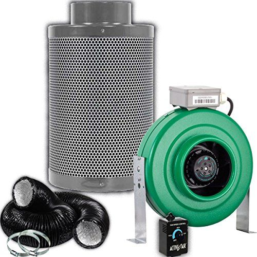 Active Air 6 Inch 400 Cfm Inline Duct Fan Growers House 6 Carbon Filter And 2 Pre Filters Fans For Sale Carbon Filter Amazing Bathrooms