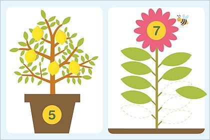 Growing lemons file folder games - Counting
