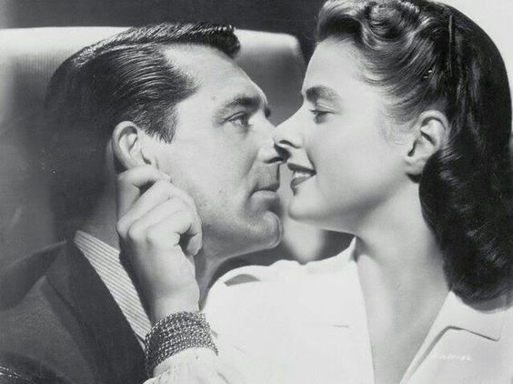 Ingrid Bergman and Cary Grant