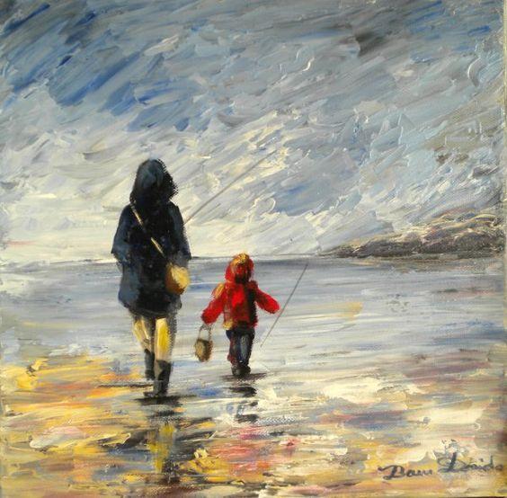 Dam domido marineu couteau sur toile peinture originale - Peindre sur peinture acrylique ...