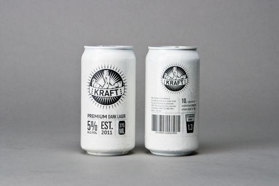 Unique Packaging Design, Kraft Premium Dark Lager via @javinstein #Packaging #Design #Cans