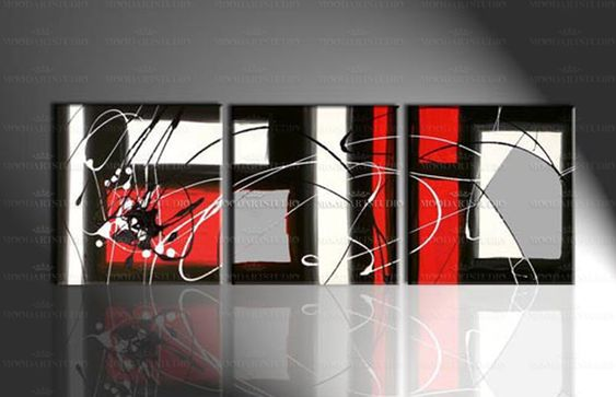 Cuadro moodartstudio blanco negro y rojo cuadros - Cuadros modernos blanco y negro ...