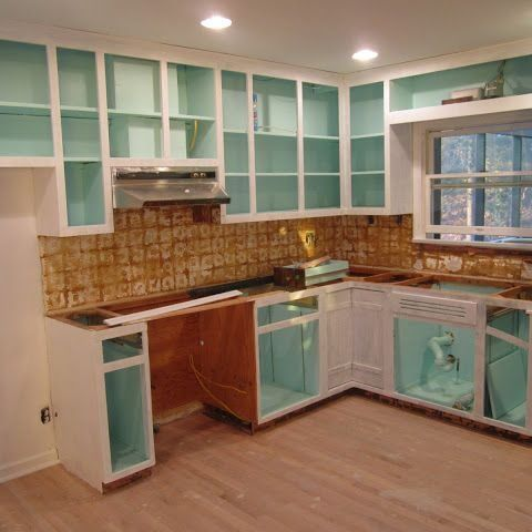 How To Paint The Inside Of Your Cabinets How To Build It Inside Kitchen Cabinets Kitchen Remodel Painting Kitchen Cabinets