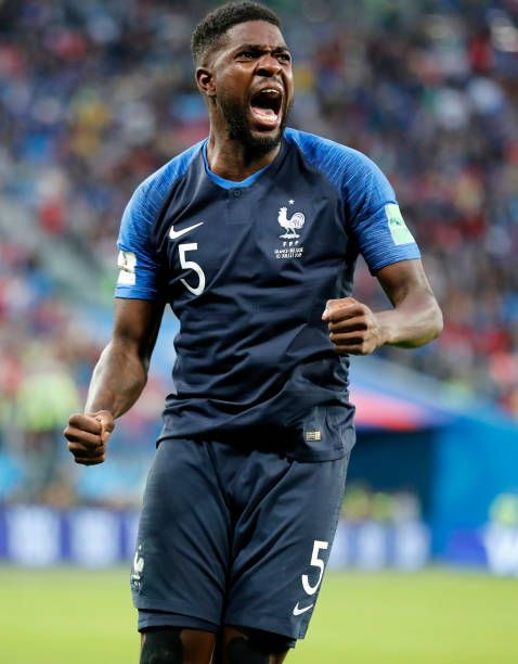 Samuel Umtiti Of France Celebrates As He Scores The Goal 01 During The 2018 Fifa World Cup Russia Semi Final Ma France World Cup 2018 Soccer Scores France Fifa
