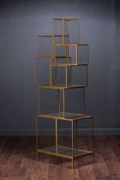 Rubiks Iron Frame Shelf #Mecox #interiordesign #MecoxGardens #furniture #shopping #home #decor #design