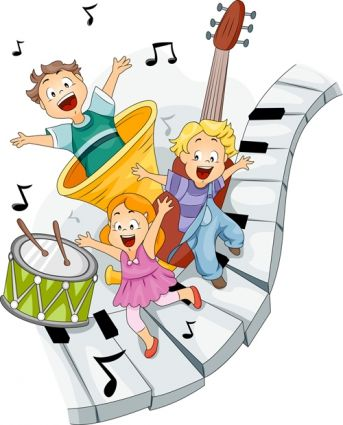 Kids having fun with Music