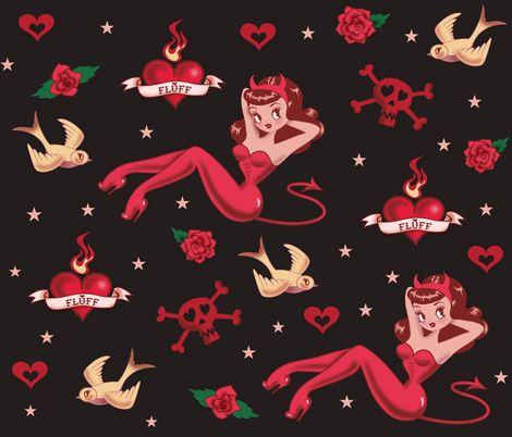 Devilette fabric by miss_fluff on Spoonflower - custom fabric