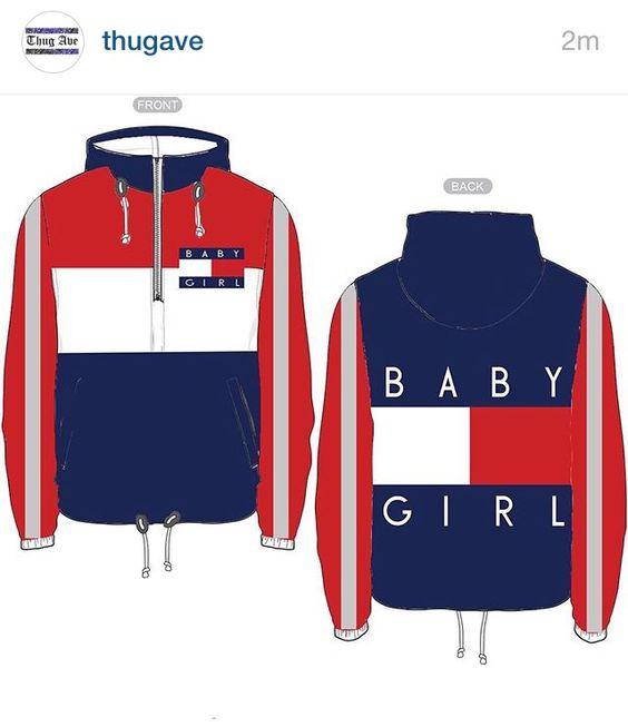 Baby Girl Thug Ave windbreaker | thug ave | Pinterest | Bambine ...