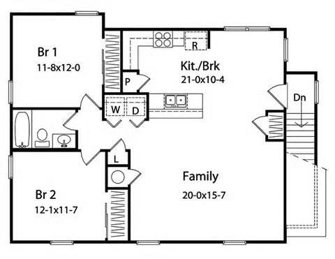 House plans floors and doors on pinterest for 30x30 garage with apartment