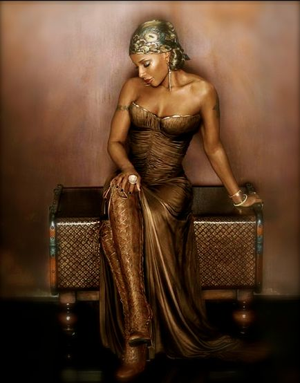 'Mary J. Blige, the QUEEN OF HIP HOP SOUL is born on this date January 11, 1971. She is a recipient of nine Grammy Awards and four American Music Awards, and has recorded eight multi-platinum albums. She is the only artist with Grammy Award wins in Pop, Rap, Gospel, and R&B.' (photo: Mary J. Blige)