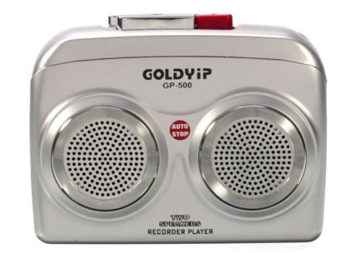 http://www.bit.ly/1MKDO4R  Product Features  Brand: GOLDYIP Model: GP-500 Speaker: Built-In two Type: Cassette Tap Microphone: Built-In Outlet: External DC Jack Battery: DC 3V (UM-3x2) Earph