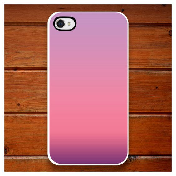 iPhone Case - Purple Ombre - Pink - iPhone 4 - iPhone 4S ❤ liked on Polyvore