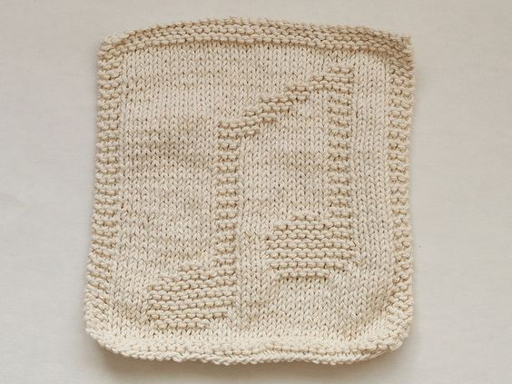 Music Notes Dishcloth - knitted..... Dish cloth patterns Pinterest Note...
