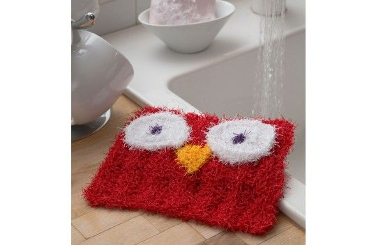 Red Heart Wise Owl Scrubby
