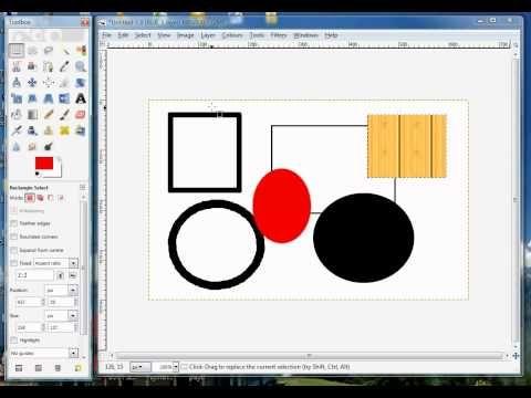 Gimp Tips Draw Add Basic Shapes Circle Square Rectangle Oval Ellipse Youtube Scrapbook Tutorial Basic Shapes Gimp