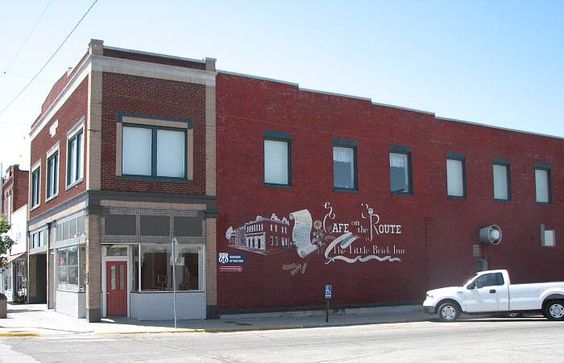Crowell Bank was once robbed by Jesse James, and is now the Kansas Cafe on old Route 66.
