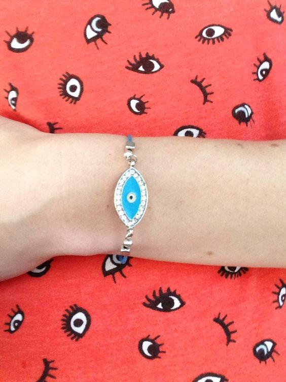 Evil eye. Third eye yoga bracelet by wakeupsandy on etsy