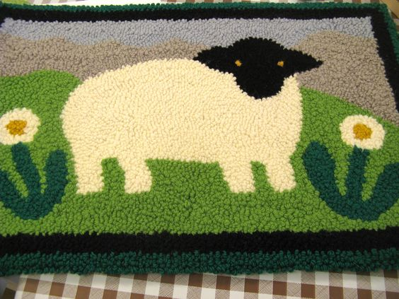 Sonia's sheep design rug