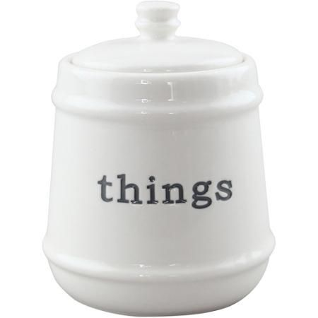 Better Homes And Gardens Words Covered Jar White Gardens Jars And Home And Garden