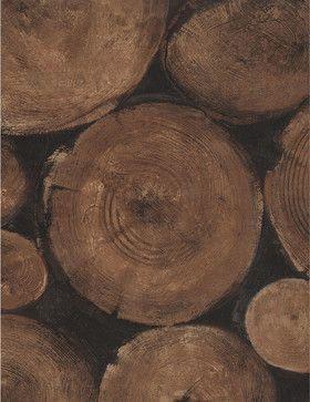 Wooden Log Ends Wallpaper - Timber eclectic wallpaper