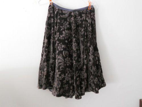 Anthropologie-Lithe-Hickory-Meadow-Skirt-0-Velvet-Gift-2005-EXC