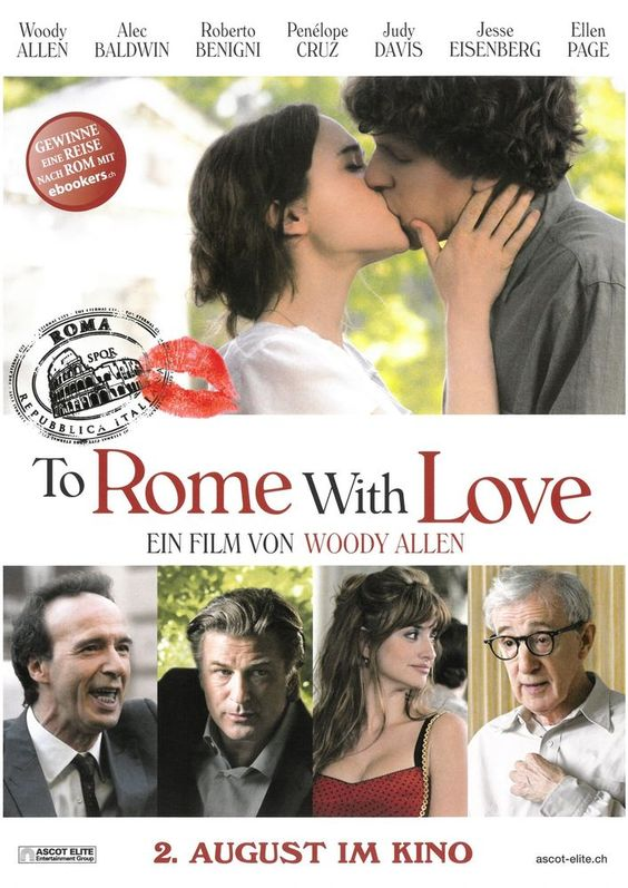 WOODY ALLEN - TO ROME WITH LOVE - 2012 - PENÉLOPE CRUZ - FILMPOSTER A4
