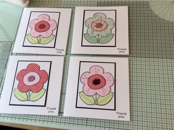 Paper piecing with Woodware stamp
