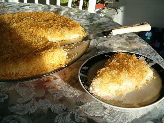 Konafa with Ricotta -- very few ingred.