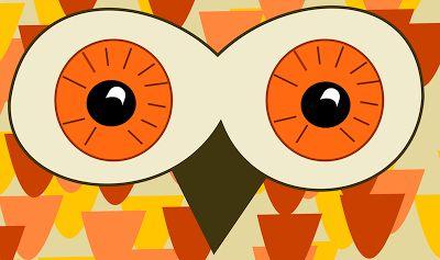 Free printable owl greeting card in retro design - asudruckbare Eulenkarte - freebie | MeinLilaPark – DIY printables and downloads