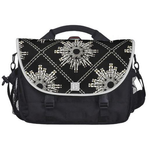 Stars shapes #futuristic #style #design #pattern #computerbag in black and white tones from #zazzle