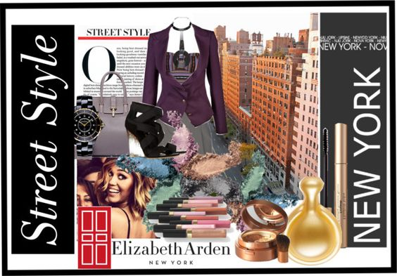 """A Glimpse of Gold with Elizabeth Arden"" by stylebystevinkyle on Polyvore"