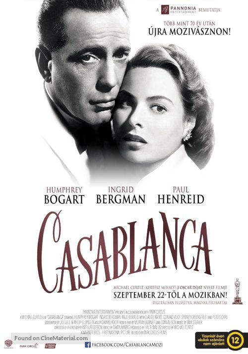 Casablanca Affiche Cinéma Wall Poster Movie Film Classic Grand format A0