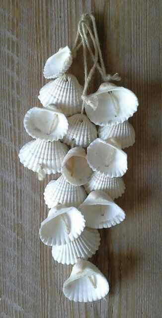 sweet shells drill holes in shells and string together. Black Bedroom Furniture Sets. Home Design Ideas