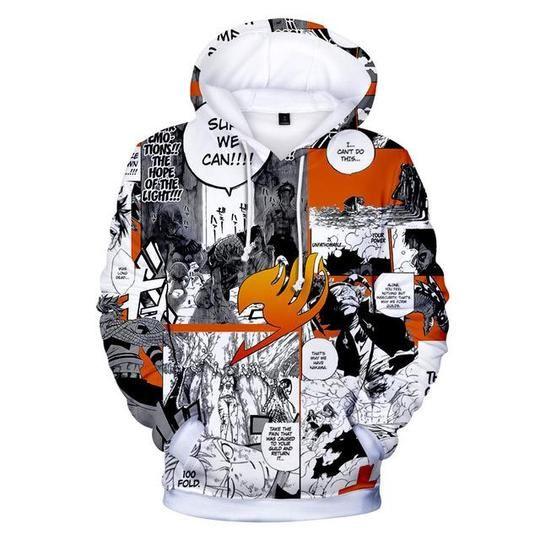 Anime Fairy Tail 3D print Hoodie Men Women Casual Sweatshirt Pullovers Tops