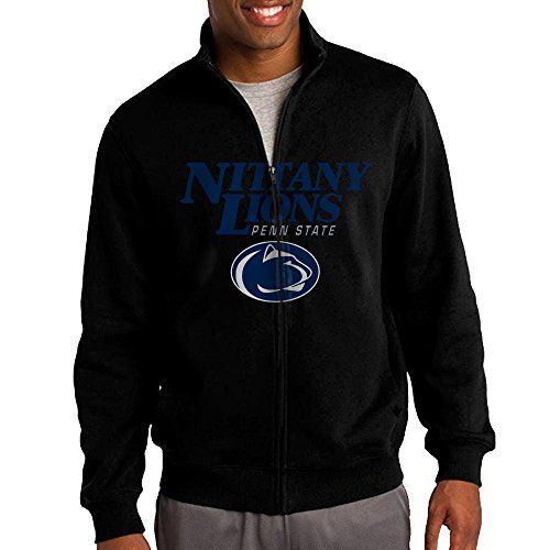 ILKU Mens Penn State University ZipUp Sweatshirt Jacket Black Size S ** You can find out more details at the link of the image.