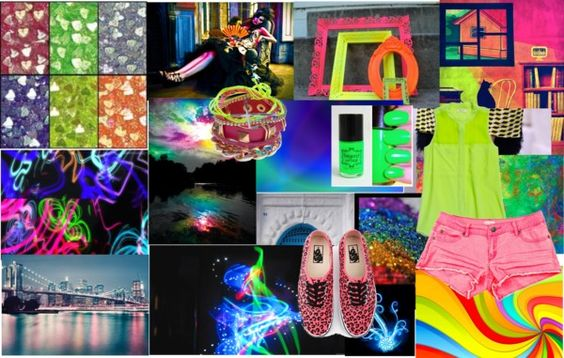 """neon and bright"" by aavagian ❤ liked on Polyvore"