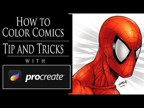 How To Color Comic Art With Procreate Tips And Tricks Youtube Comic Tutorial Procreate Tutorial Comic Art
