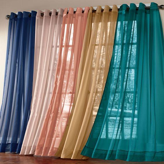 Scenario® Sheer Voile Grommet Panels | Curtains & Drapes ...