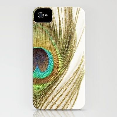 Peacock Feather iPhone Case by Kimberly Blok - $35.00
