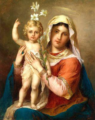 Resultado de imagem para nossa senhora menino jesus