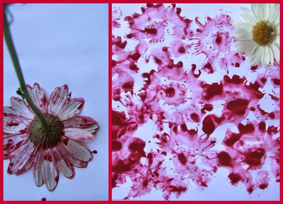 festés virágokkal kreatív ötlet ovisoknak