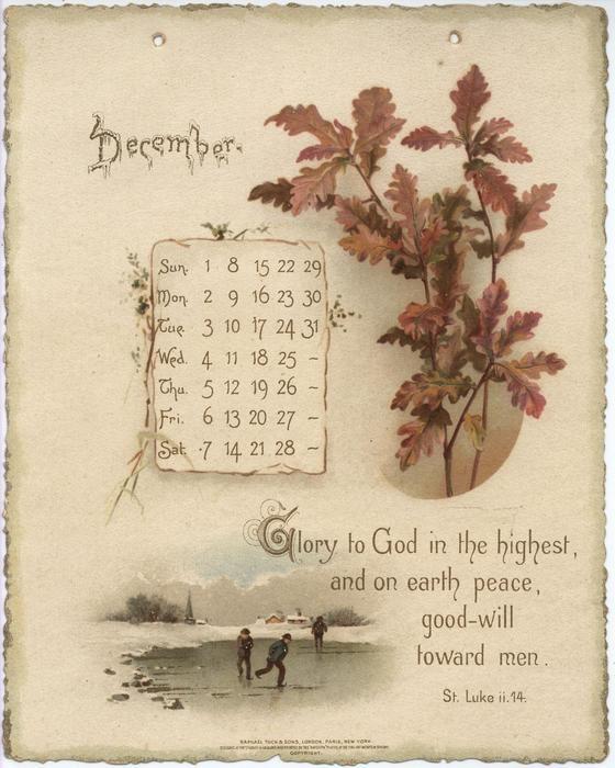 Golden Words From The Bible Calendar For 1895 Tuckdb Ephemera