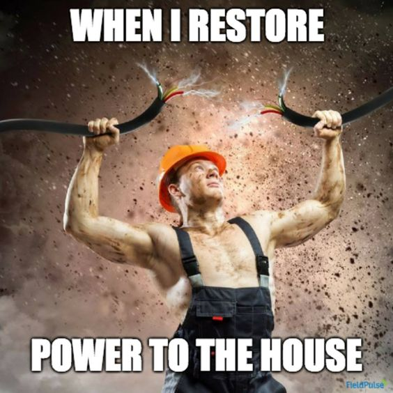 When I restore power to the house
