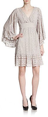Lace Bell-Sleeve Dress