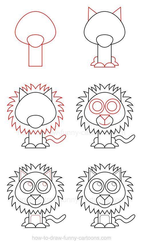 Cara menggambar singa